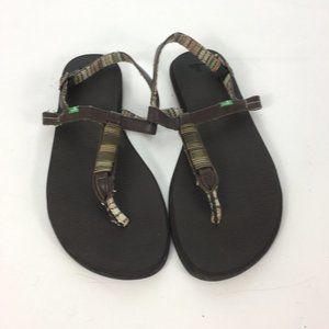 Sanuk Womens Sandals Slink back Beaded Boho Comfy
